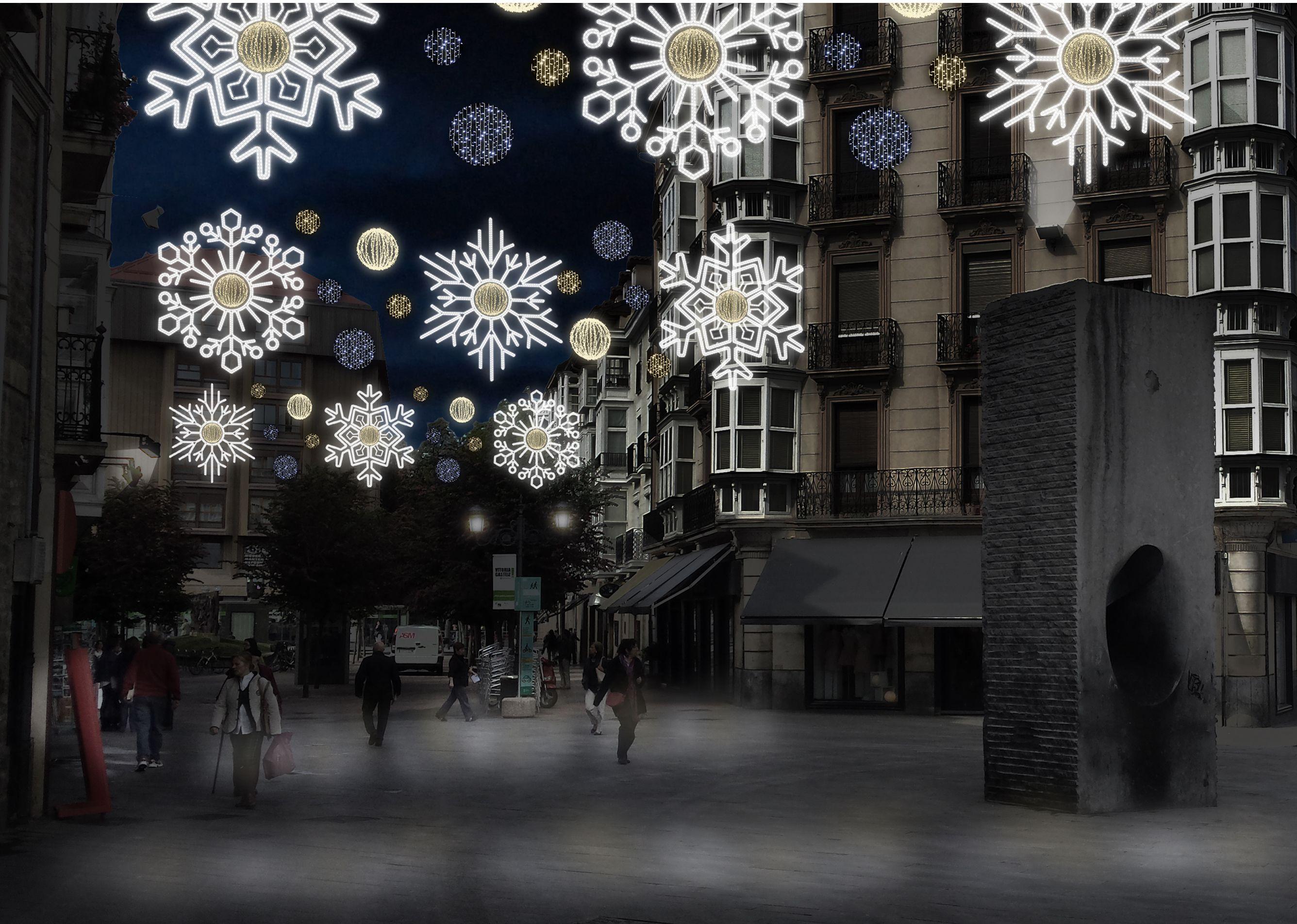 El ayuntamiento de vitoria gasteiz adjudica el contrato de la iluminaci n navide a que este a o - Iluminacion vitoria ...