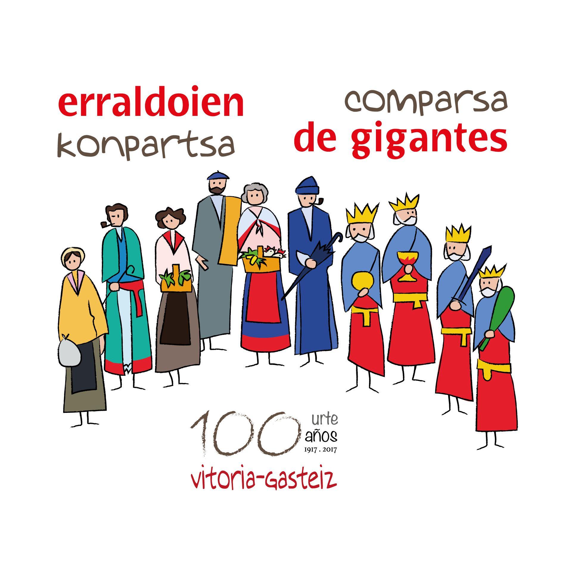 c29882a2e095f Un total de 56 Gigantes y Cabezudos, de toda Euskadi y Navarra, desfilarán  mañana por las calles de Vitoria-Gasteiz en la celebración del Centenario  de la ...