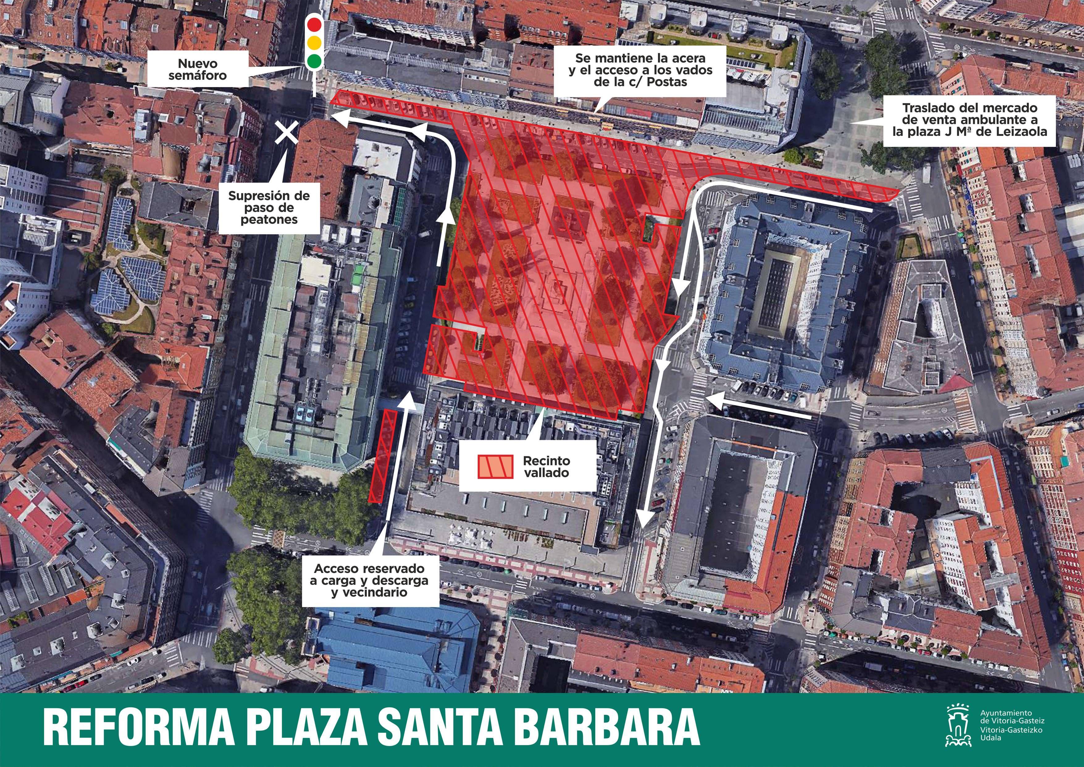 Las obras de la plaza Santa Bárbara y su entorno arrancan la próxima ... 228b1d9efd864