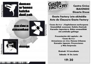cartel del encuentro gazte factory 2011